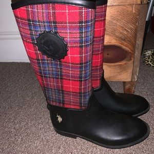 Polo calf high rain boots!
